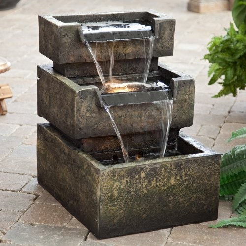The sound of trickling water adds tranquility to any space. Though you can use i contemporary outdoor fountains