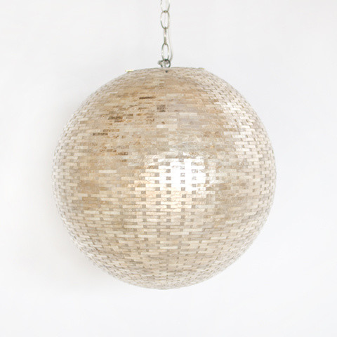 Gold Shimmer Geometric Round Pendant contemporary-pendant-lighting