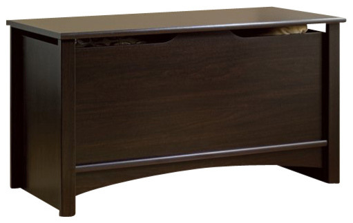 Sauder Shoal Creek Storage Chest in Jamocha Wood Finish - Transitional - Accent Chests And ...