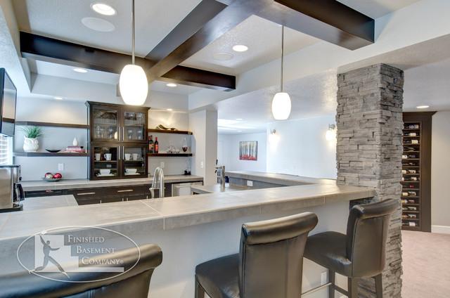 ... Bar - Contemporary - Basement - denver - by Finished Basement Company