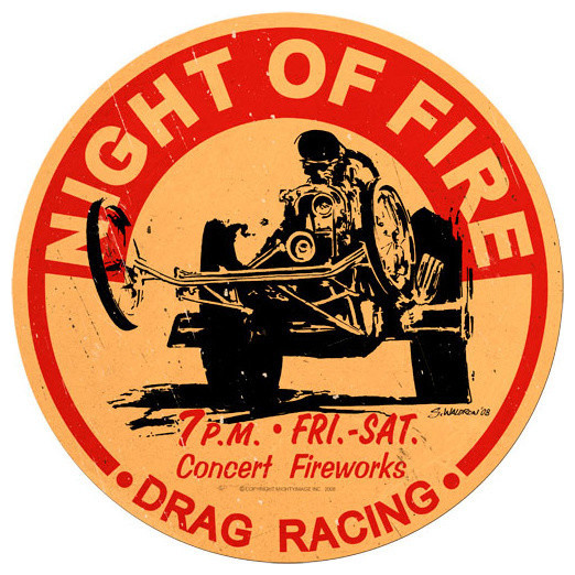 Night of Fire Vintage Metal Sign modern-home-decor