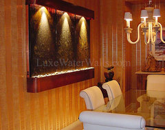 "80"" Wide Wall Fountains in Various Clients Homes traditional-indoor-fountains"