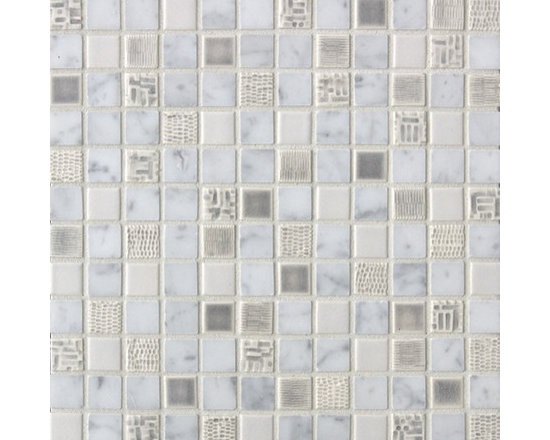Cascade Blend #11 - The Cascade Collection includes 11 different blends of ceramic tile and natural stone