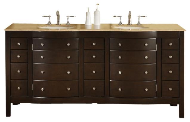 72 in. Prima Double Sink Bathroom Vanity in D contemporary-bathroom-vanities-and-sink-consoles