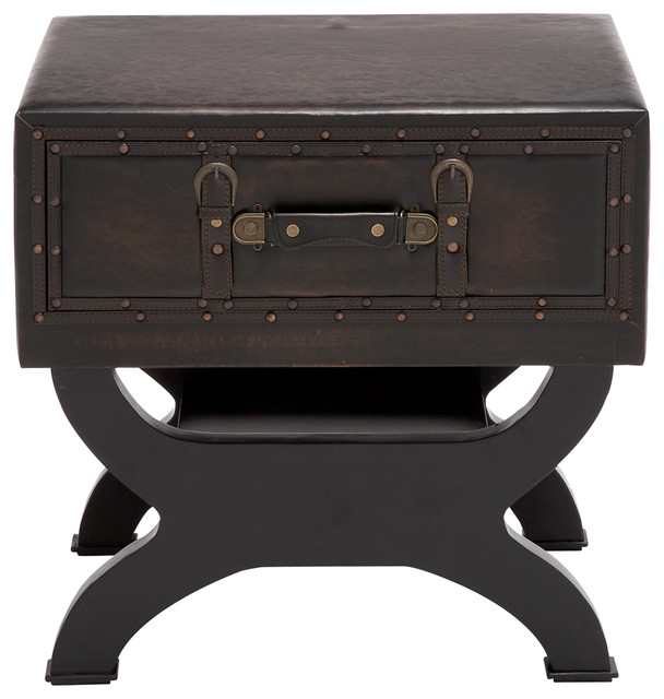 Olde London Leather Suitcase Accent and End Table contemporary-storage-bins-and-boxes