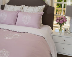 Embroidered Duvet Cover, The Lafayette Pink modern-duvet-covers-and-duvet-sets