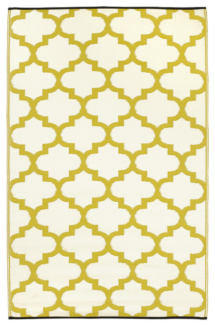 Tangier Rug, Celery & White, 5x8 contemporary-rugs