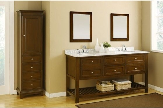 J & J International Double Sink Vanities - traditional - bathroom ...