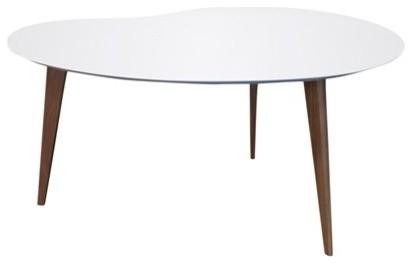 Jonathan Adler Okura Small White Kidney Table Modern Side Tables And