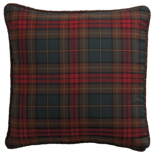 Decorative Plaid Pillows : spice plaid decorative pillow - Traditional - Decorative Pillows - by Ethan Allen