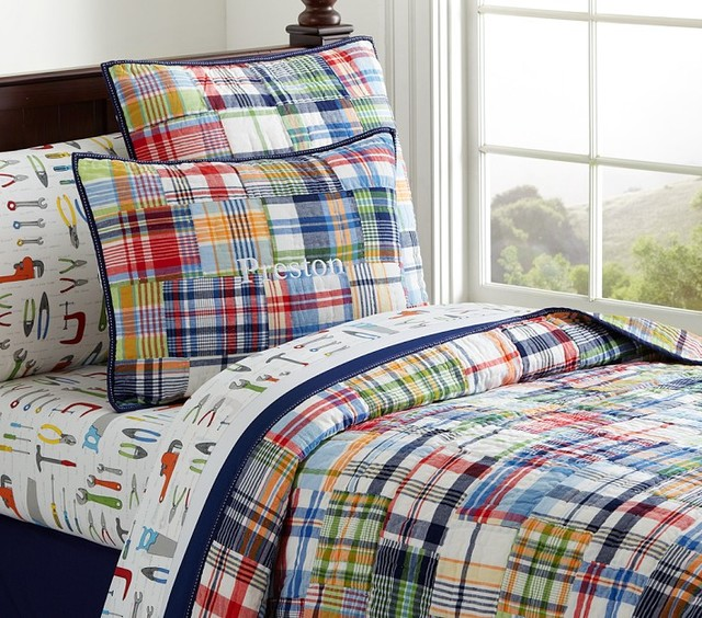 Madras Quilted Bedding Kids Bedding San Francisco By