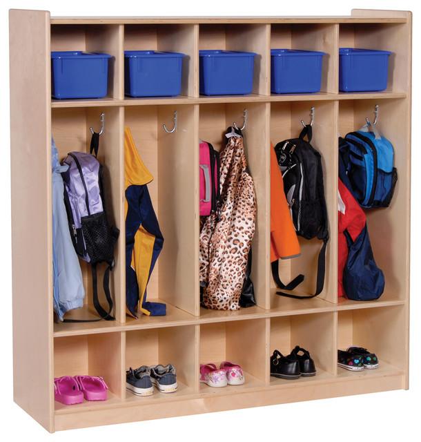 Steffywood Kids Storage Toy Books Bag Coat Hooks Five