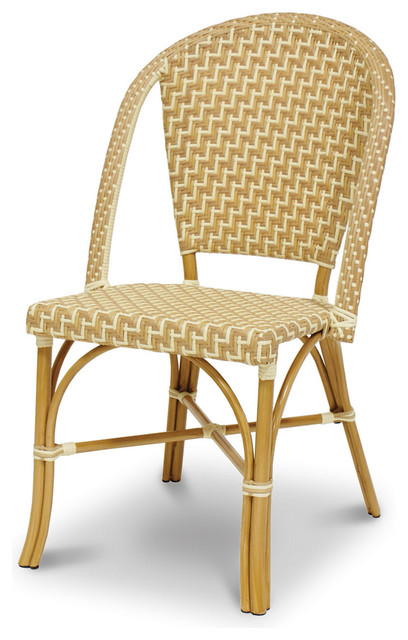 Paris Bistro Metal Chair traditional-outdoor-lounge-chairs