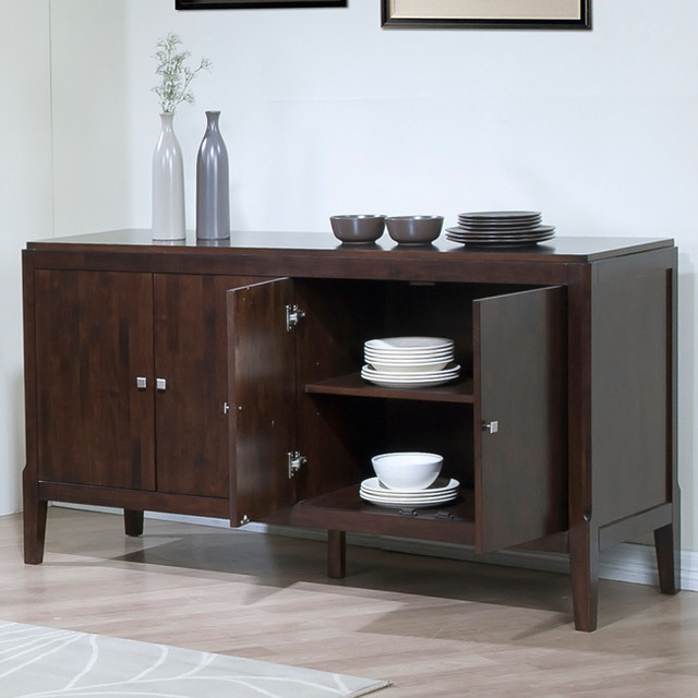 Axis Espresso Finish Buffet - Contemporary - Buffets And Sideboards - by Overstock.com