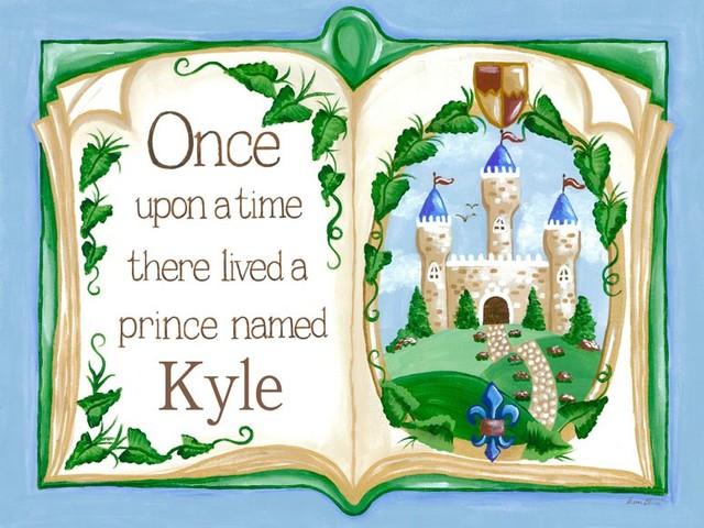 Once Upon a Time Prince Storybook Wall Hanging traditional-nursery-decor