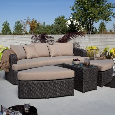 Coral Coast Montclair All Weather Wicker Sectional Sofa Set modern-patio-furniture-and-outdoor-furniture