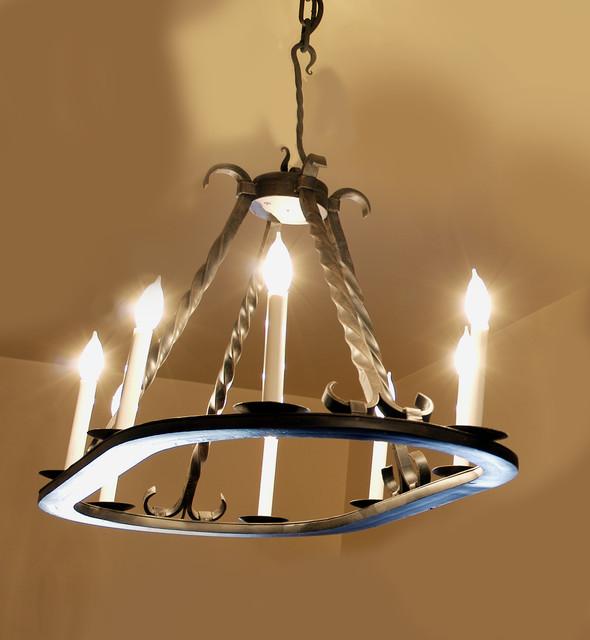 Mediterranean Style Lighting: Iron Chandeliers In Mediterranean Style