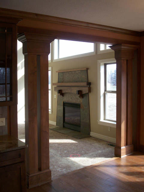 Stone Fireplace eclectic-family-room