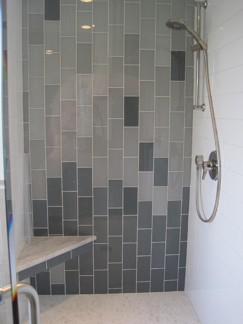 Contemporary bathroom remodel contemporary tile for European shower design