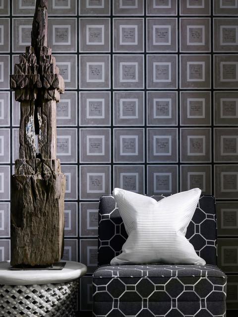 Biography Industrial Loft Wallpaper - Grey transitional-wallpaper