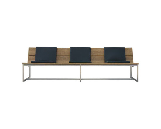 ICON Casual Bench - This bench comes in a length that's not always easy to find and has clean, modern lines. I always love the combo of teak and metal.