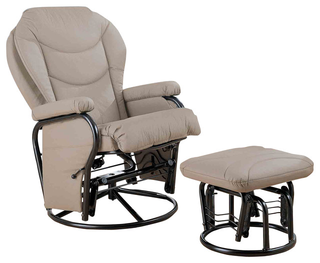Glider Chair With Ottoman: Recliners With Ottomans Glider Rocker With Round Base
