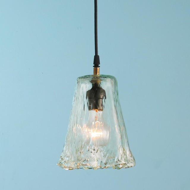 Small Recycled Ruffle Glass Pendant Pendant Lighting By Shades Of Light