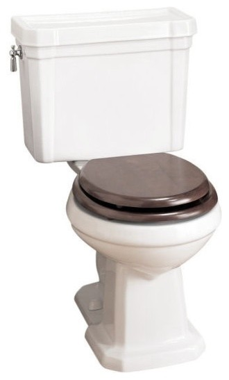 Porcher Lutezia Round-Front Water Closet, White traditional toilets