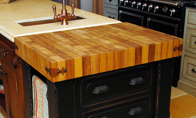 iroko butcherblock kitchen countertop by grothouse