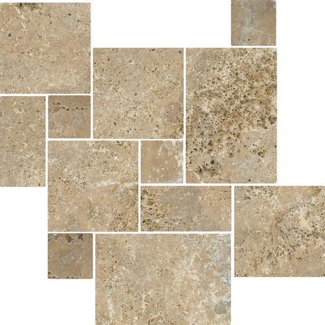 Antalya Noce Tumbled Travertine  floor tiles