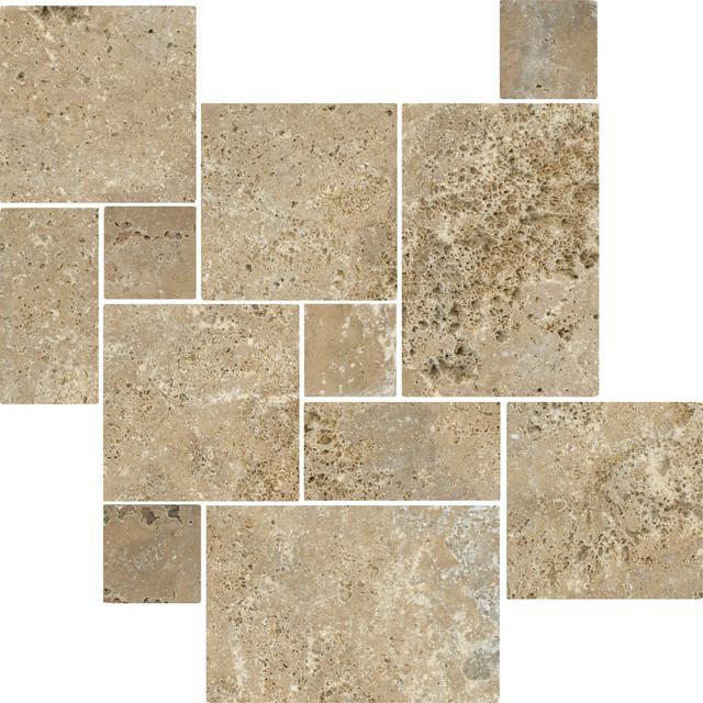 Antalya Noce Tumbled Travertine floor-tiles