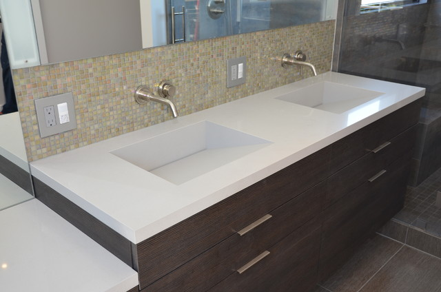 quartz integrated sinks modern vanity tops and side splashes san