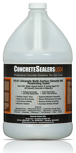 PS101 Siliconate Multi-Surface (Smooth) WB Penetrating Sealer (1 gal.) modern-stains-and-varnishes
