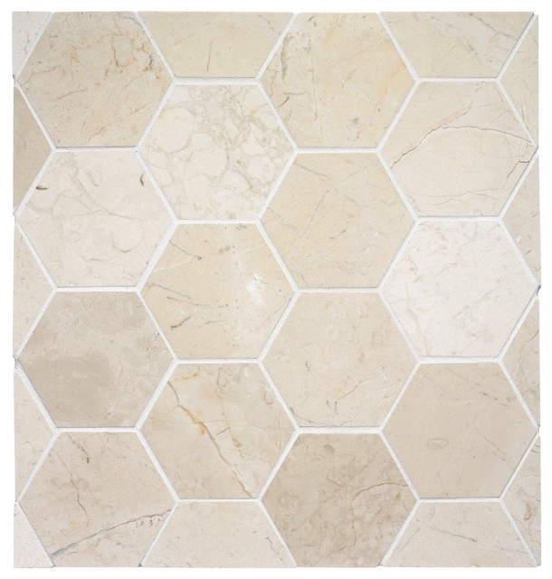 Hexagon Stone Tile eclectic bathroom tile