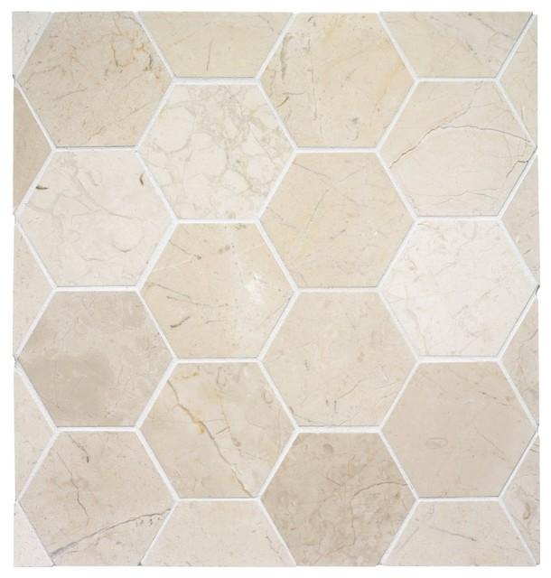 Hexagon Stone Tile Eclectic Tile Other Metro By Rebekah