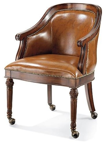Freeman Leather Game Chair traditional-task-chairs