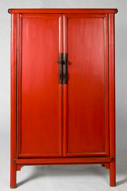 Chinese Antique Wedding Cabinet Armoire - Asian - Armoires And Wardrobes - new orleans - by Silk ...
