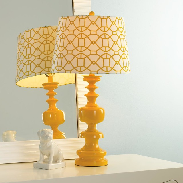 spindle table lamp with lattice shade lamp shades by shades of. Black Bedroom Furniture Sets. Home Design Ideas