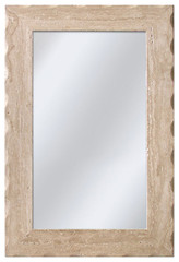 Shop allen + roth 24-in x 36-in Travertine Rectangle Framed Mirror at Lowes.com