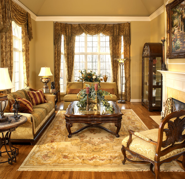 Old world elegance traditional living room detroit for Old style living room ideas