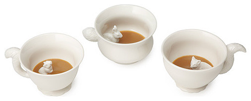 Hidden Animal Mugs With Tails contemporary serveware