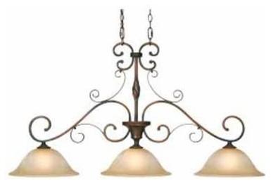 Meridian Golden Bronze Large Island Light traditional-pendant-lighting
