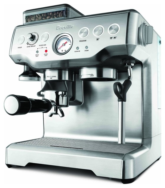 Breville Barista Express Machine with Grinder traditional-coffee-and-tea-makers