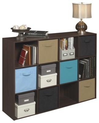 ClosetMaid Cubeicals 12-Cube Organizer, Espresso - Contemporary - Accent Chests And Cabinets ...
