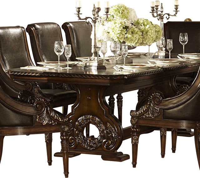 Homelegance Orleans Double Pedestal Dining Table in Rich Dark Cherry - Traditional - Dining ...
