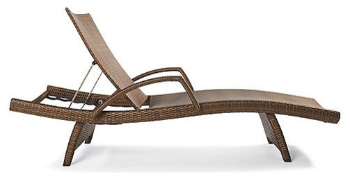 Set of Two Balencia Outdoor Chaise Lounge Chairs with Arms ...