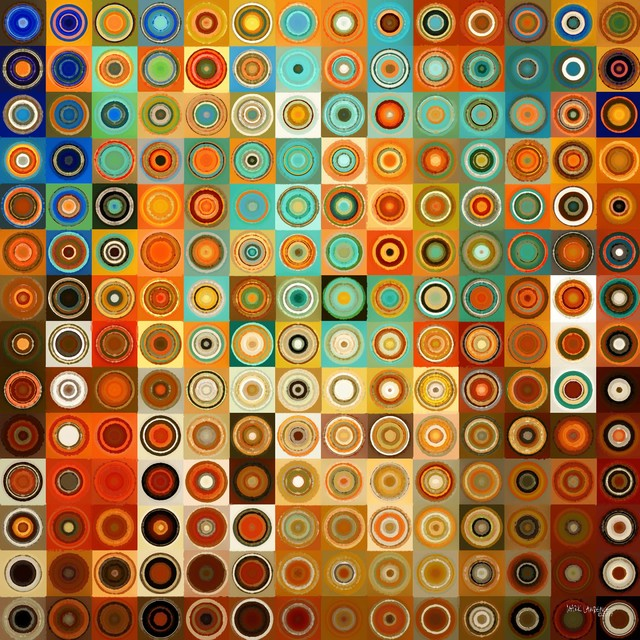 Circles squares geometric modern art paintings for Artists who use shapes in their paintings