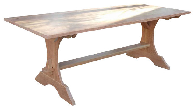 Crescent Trestle Dining Table Natural Rustic Cherry 36 X