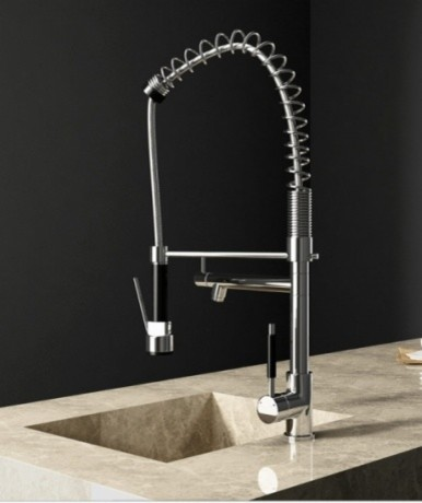 JollyHome Contemporary Kitchen Faucet with Pull out Sprayer modern-kitchen-faucets
