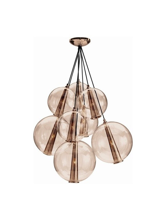Arteriors Caviar Fixed Lg Rose Gold/Rose Glass Cluster - Caviar Fixed Lg Rose Gold/Rose Glass Cluster